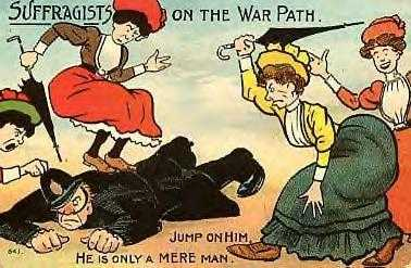 Suffragette cartoon